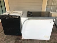 white and black dishwasher and white gas range oven Lorton, 22079