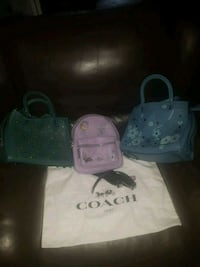 3 genuine COACH ITEMS 1BACKPACK 2 PURSES BRANDNEW WITH TAGS STILL ON  Anchorage, 99504