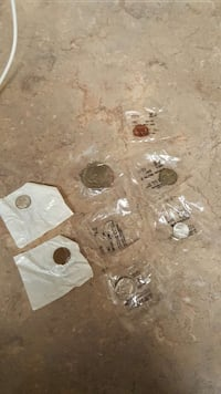 6 pieces coin collection