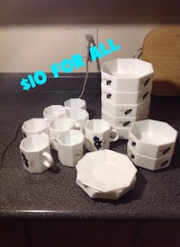 Bowl/Cups/Desert Plate Set: All for $10 FIRM (21 Pieces) Brampton, L7A