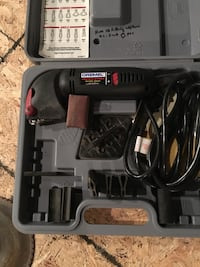 Black dremel power tool set