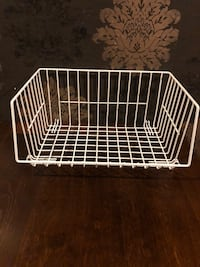 Wire Stackable Basket, White Calgary, T3J 0J3