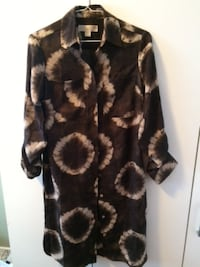 black and brown leopard print long-sleeved dress null