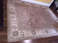 Beautiful Hand Tufted Beige Floral New Zealand Wool Traditional Rug, 7.6' x 9.6' — $160 or OBO Washington, 20009