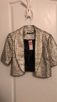 Potter's Pot gold/silver foil jacket - Medium