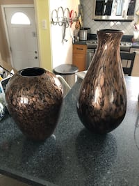 High gloss brown and black vases  Edmonton, T5A 0L5