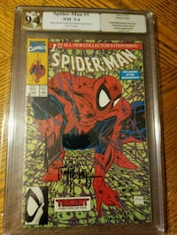 Stan Lee/Todd Mcfarlaned signed/graded Spiderman 1 Syracuse
