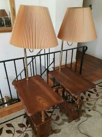 two brown wooden table lamps Capitol Heights, 20743