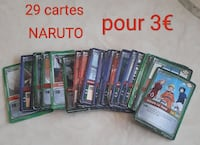 Lot de cartes Naruto tbe