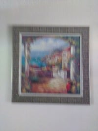 brown wooden framed painting of house Lake Elsinore, 92530