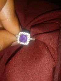 silver and purple gemstone ring Washington, 20020