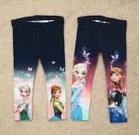 2 pairs of Frozen leggings size 2-3 Mississauga, L5M 0H2