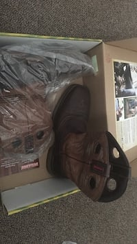 Pair of brown cowboy boots