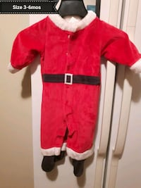 Santa sleepers size 3 to 6 mos.
