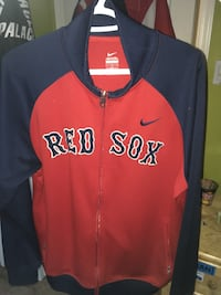 red and black Red Sox Nike full zip jacket