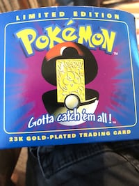 pokemon ball with gold card Louisville, 40204