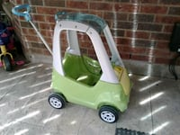 green and white plastic toy car Newmarket, L3X 2V4