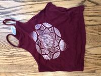 Maroon halter cropped tank top from brandy Melville  North Vancouver, V7H 1S1