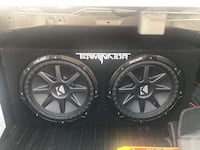 2 12 inch Subwoofers in box with amp Fort Polk, 71459