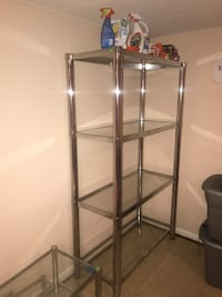 Stainless Steel and glass shelf rack Fort Washington, 20744