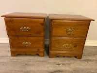 Two solid wood end tables Milton, L9T 2R1