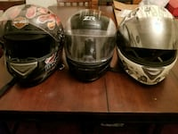 two black and white full-face helmets Baltimore, 21229