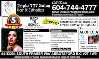 Beauty services Abbotsford