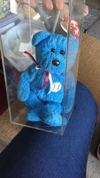 blue and white bear plush toy Romford, RM3 9BD