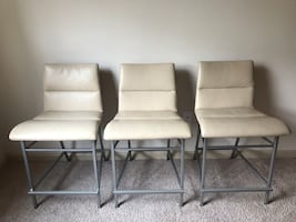 Barstools - leather and wood