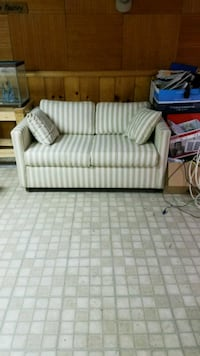 gray and white striped loveseat 43 km