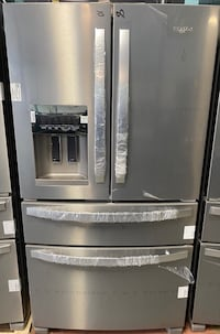 New whirlpool stainless steel french door refrigerator 10% off