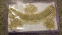 gold-colored and white pearl beaded accessory Brampton, L6R 0W3