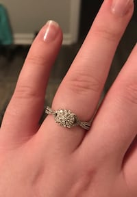 Diamond engagement ring and sapphire ring with diamond accents Warner Robins