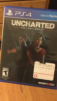 Unchated The Lost legacy PS4 game case