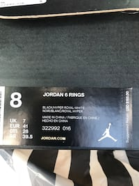 Black n white Mens Jordan's size 8 West Des Moines, 50266