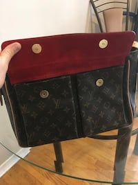 Red Velvet Louis Vuitton Over The Shoulder Purse