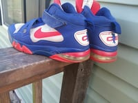 pair of blue-and-orange Nike basketball shoes Laurel Hill, 28351