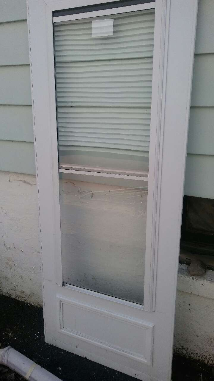 Letgo 32in storm door in cliffwood beach nj for Storm door with roll up screen