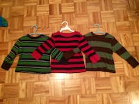 Size 2t boys long sleeve shirts. old navy and the gap. pu in dieppe.