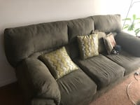 gray suede sectional couch with throw pillows Fairfax, 22030