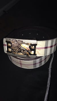 Cream, red ,white ,and black BurBerry belt Frederick, 21701