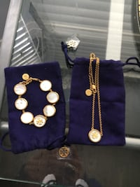 New Tory Burch semi precious stone Collection bracelet and necklace Calgary