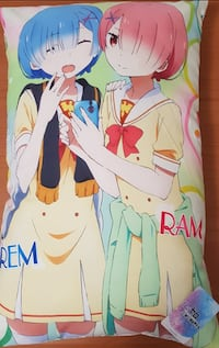 Re: Zero - Rem & Ram Pillow (New + tags): 52 cm by 32 cm  559 km
