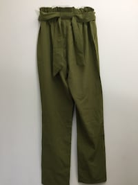 Women's olive paper bag waist pants Columbia, 21045