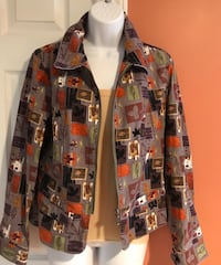 Women's Zip Jacket, beautiful fall colors, well done in very good condition, size M Farmington Hills, 48336