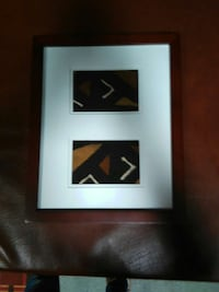 brown wooden frame white, black, and brown abstract painting Capitol Heights, 20743