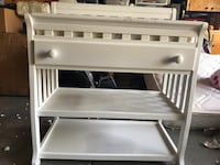 White Diaper Changing Table