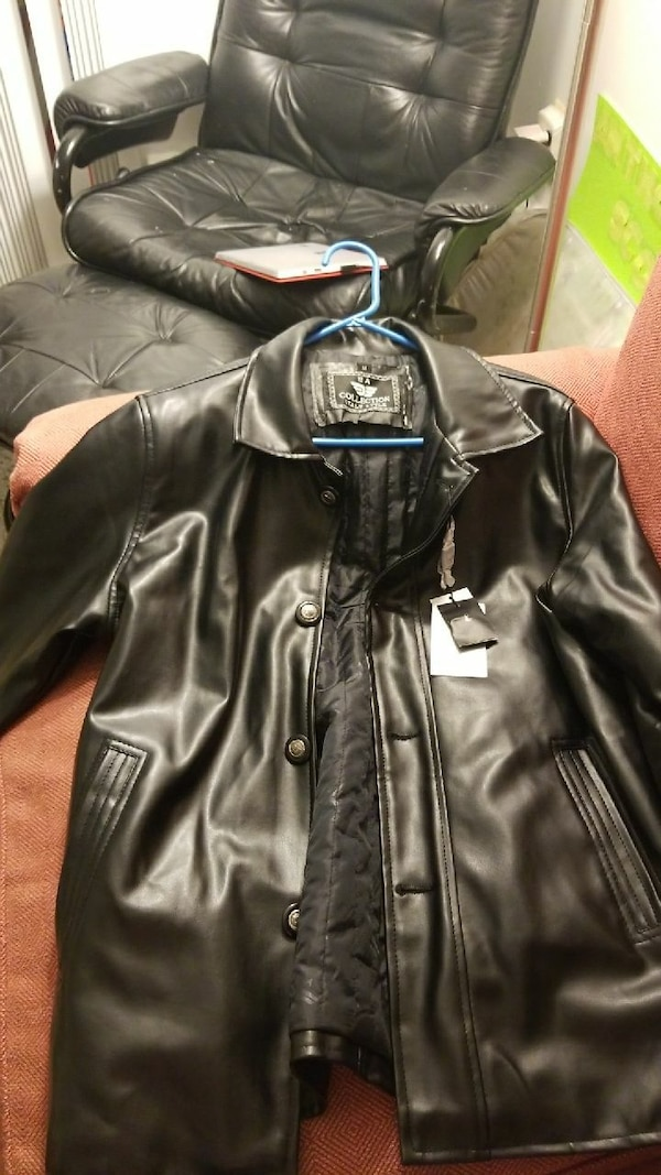 a1bb93a2a14a Used EA imported leather jacket medium for sale in Lowell - letgo