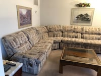 brown and gray fabric sectional sofa Sterling, 20165