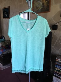 Mint tshirt with lace bottom Springfield, 65803